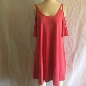 Casual Couture Size  XL  Coral Mini Dress NWT